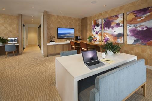 Interior view of ilounge at Montecito - Villas at Playa Vista Apartment Homes in Los Angeles, CA.