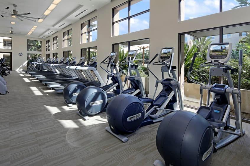Interior view of Fitness Center at Sausalito - Villas at Playa Vista Apartment Homes in Los Angeles, CA.