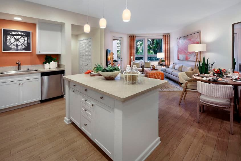 Interior view of Plan 32 at Sausalito - Villas at Playa Vista Apartment Homes in Los Angeles, CA.