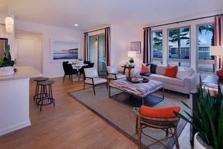Interior view of Plan 34 at Sausalito - Villas at Playa Vista Apartment Homes in Los Angeles, CA.