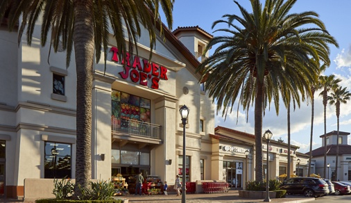 View of shopping center near Cherry Orchard Apartment Homes in Sunnyvale, CA.