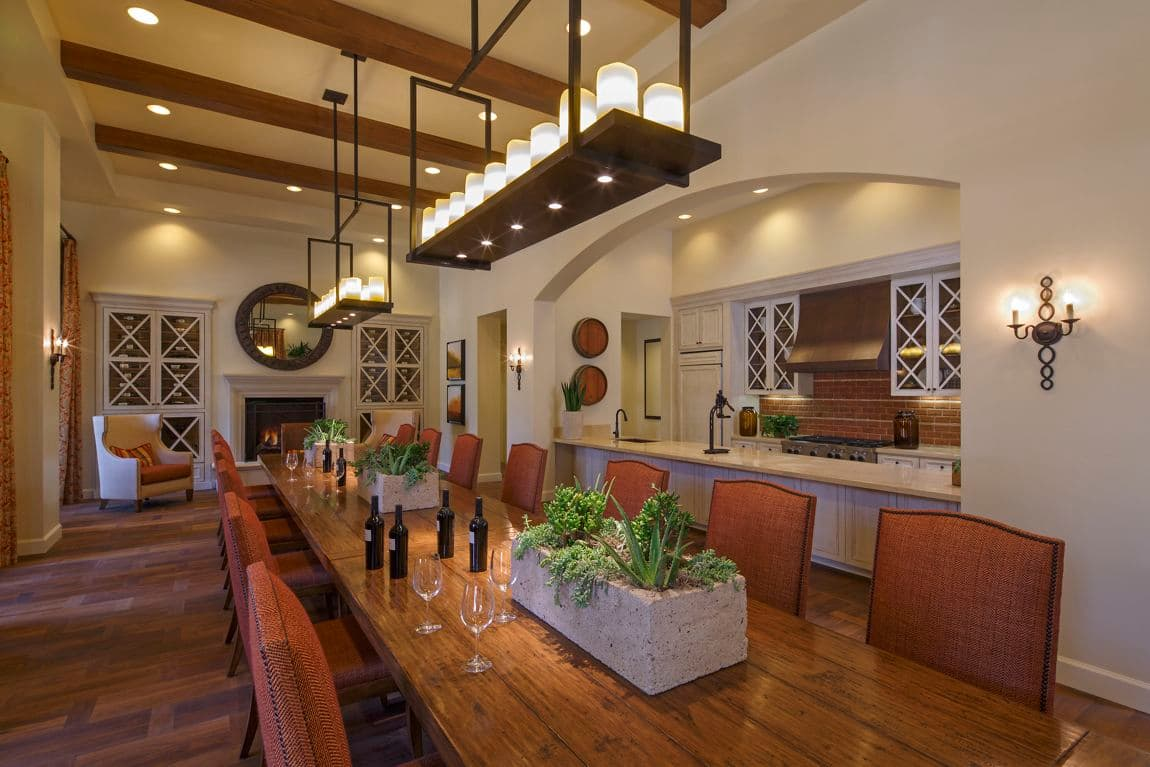 Interior view of a wine room at Crescent Village Apartment Homes in San Jose, CA.