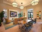 Interior view of the clubhouse at Verona at Crescent Village Apartment Homes in San Jose, CA.