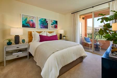 Interior view of Bedroom at Crescent Village Apartment Homes in San Jose, CA.