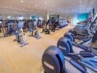 Interior view of the Fitness Center at Monticello Apartment Homes in Santa Clara, CA.