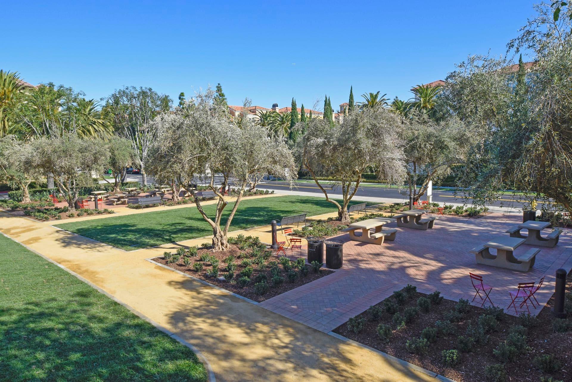Exterior view of Moitozo Park at North Park Apartment Homes in San Jose, CA.