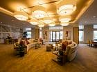 Interior view of club house at River View Apartment Homes in San Jose, CA.