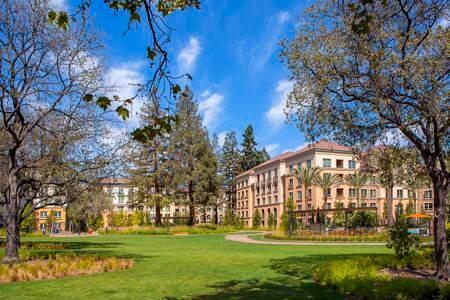 Exterior view of park at Santa Clara Square Apartment Homes in Santa Clara, CA.