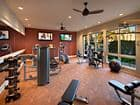 Interior view of the fitness center at The Villas at Bair Island Apartment Homes in Redwood City, CA.