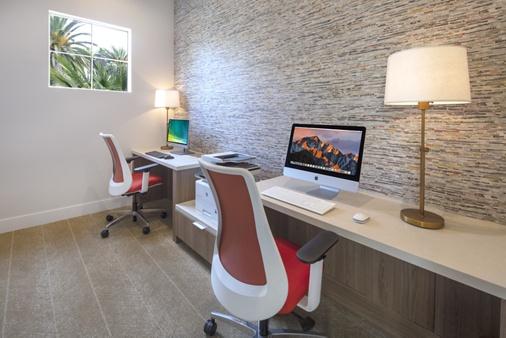 Interior view of Business Center at Vista Bella Apartment Homes in Aliso Viejo, CA.