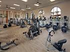 Interior view of fitness center at Avella Apartment Homes in Irvine, CA.