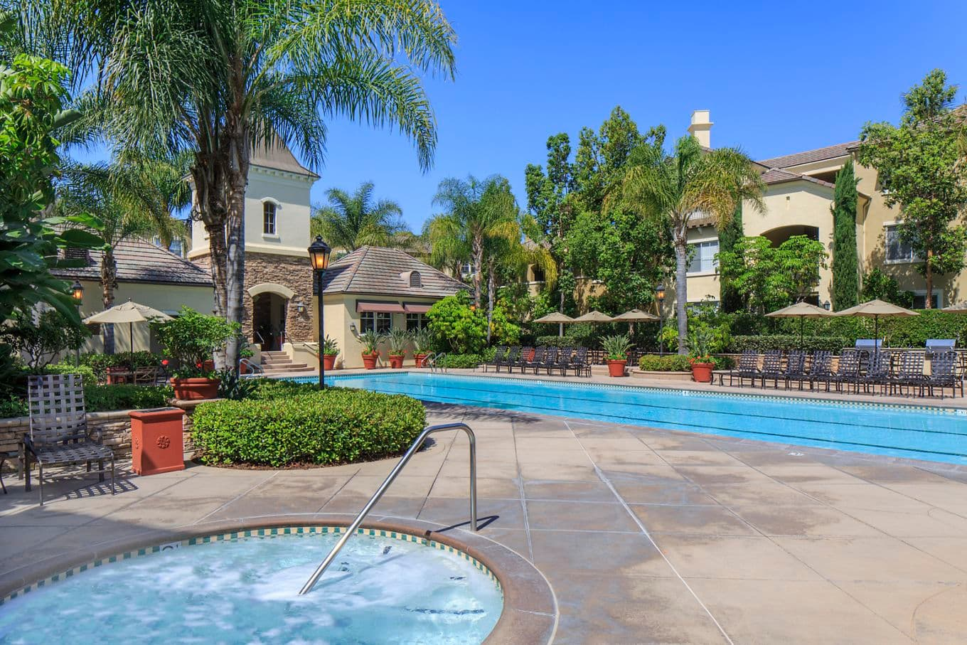 Pool and Spa view at Brittany Apartment Homes in Irvine, CA.