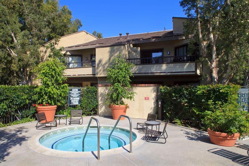 Spa view at Cedar Creek Apartment Homes in Irvine, CA.
