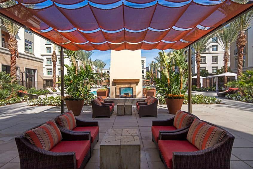 Exterior view of Centerpointe at Irvine Spectrum Apartment Homes in Irvine, CA.
