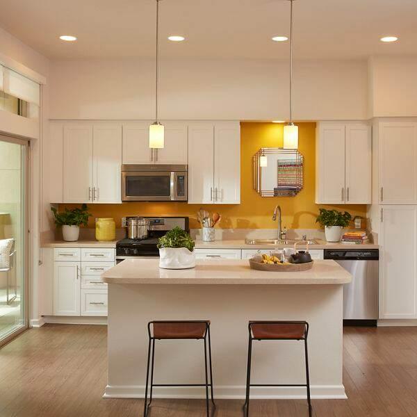 Interior view of kitchen at Centerpointe at Irvine Spectrum Apartment Homes in Irvine, CA.