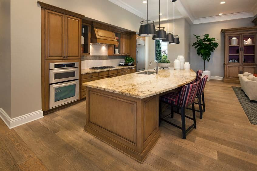 Interior view of clubhouse at Umbria Apartment Homes at Cypress Village in Irvine, CA.