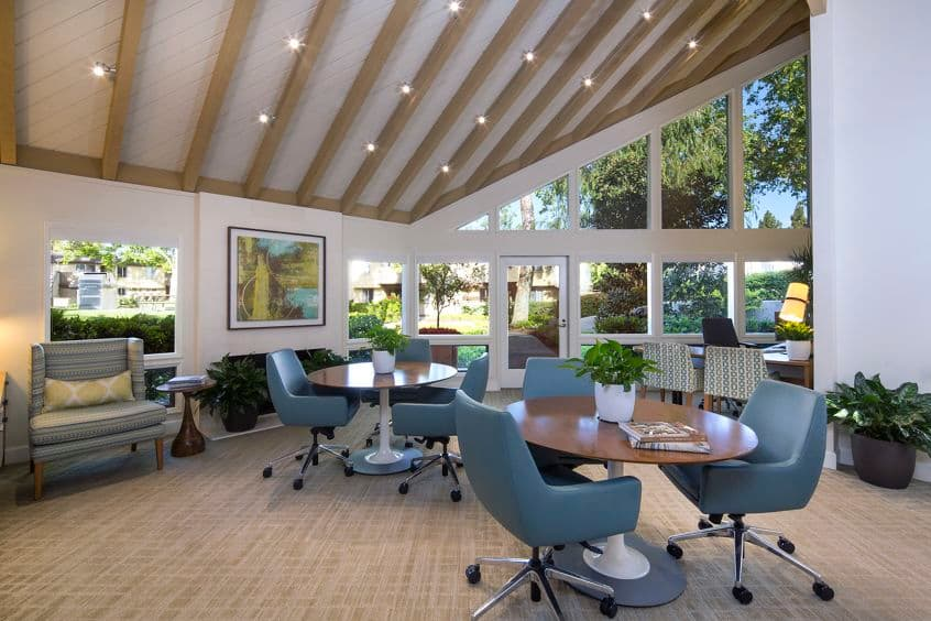 Interior view of Leasing Center at Deerfield Apartment Homes in Irvine, CA.