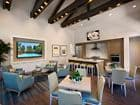 Interior view of the clubhouse at Estancia Apartment Homes in Irvine, CA.