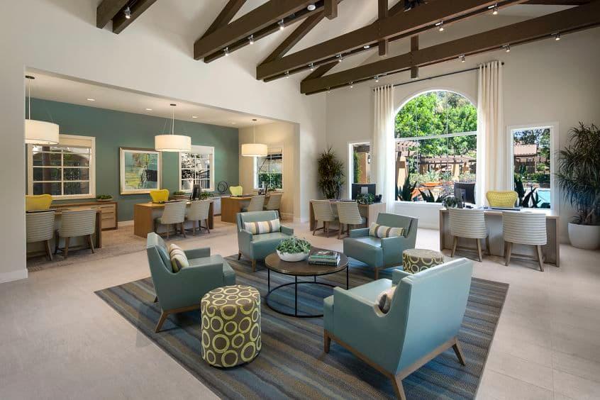 Interior view of leasing center at Estancia Apartment Homes in Irvine, CA.