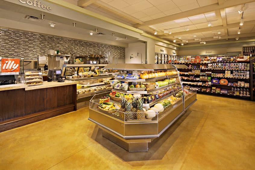 Interior view of Village Market at Los Olivos Apartment Homes at Irvine Spectrum in Irvine, CA.