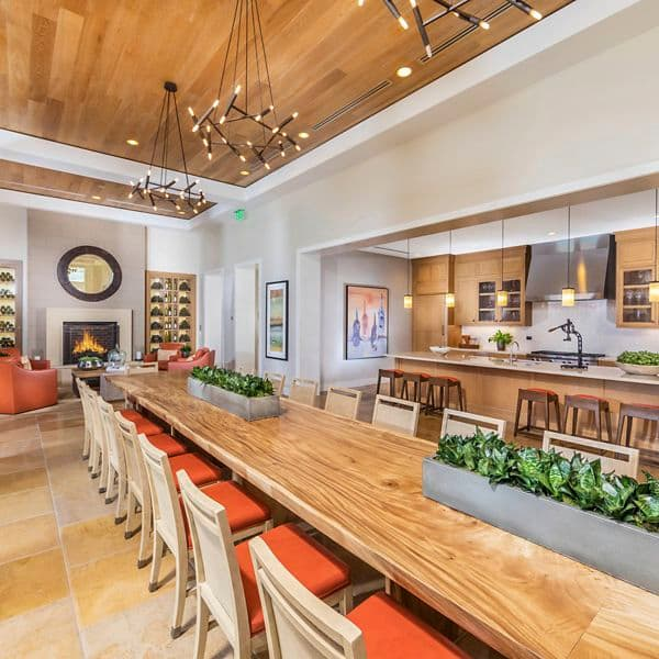 Interior view of Clubhouse at Los Olivos Apartment Homes at Irvine Spectrum in Irvine, CA.