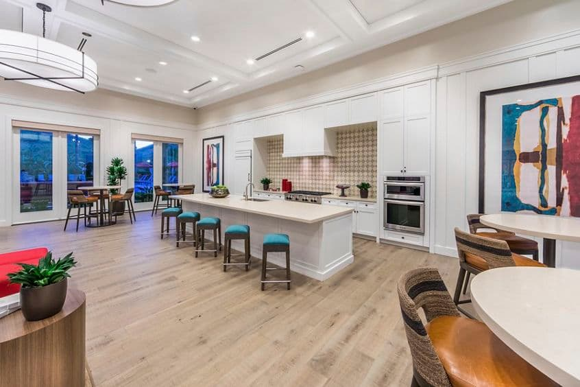 Interior view of Clubhouse at Los Olivos at Irvine Spectrum Apartment Homes in Irvine, CA.