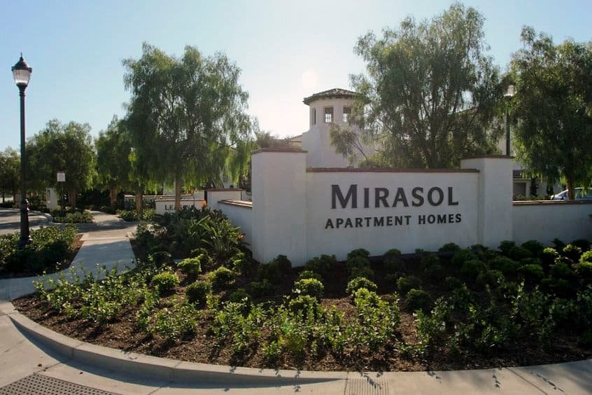 Exterior view of Mirasol Apartment Homes in Stonegate, Irvine, CA.