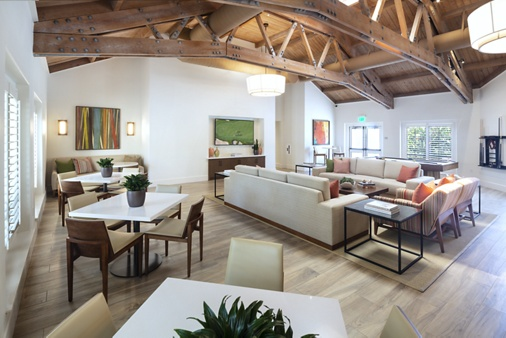 Interior view of leasing center at Northwood Place Apartment Homes in Irvine, CA.