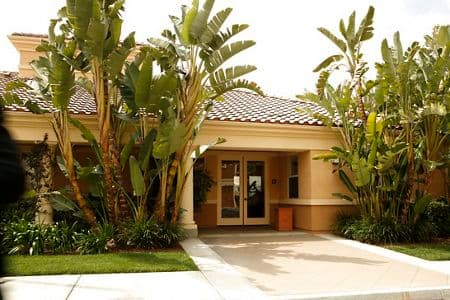 Exterior view of fitness center at Oak Glen Apartment Homes in Irvine, CA.