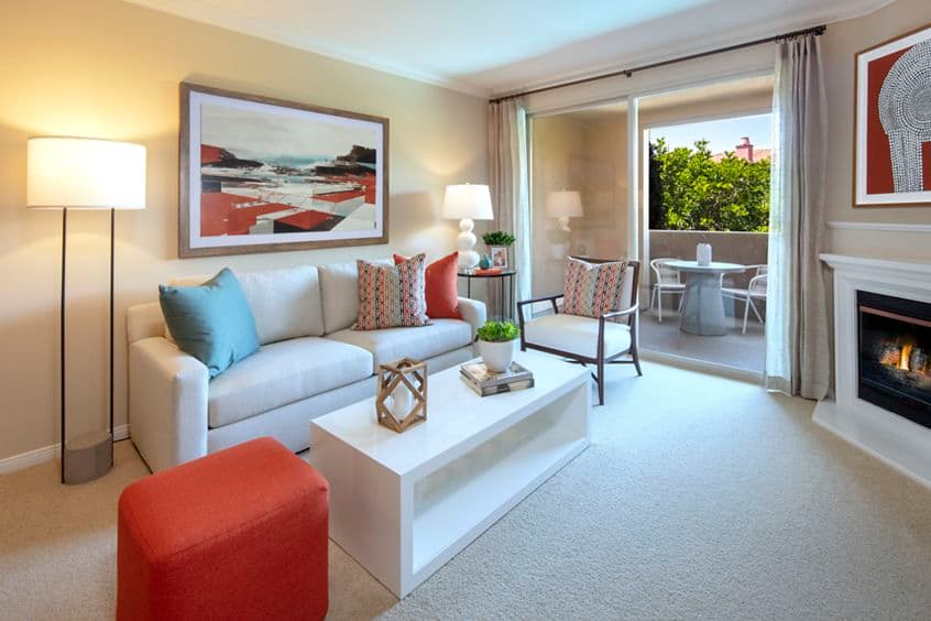 Interior view of Portola Place Apartment Homes in Irvine, CA.