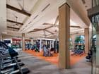 Interior view of fitness center at Promenade Apartment Homes in Irvine, CA.