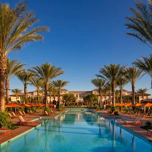Pool view at Promenade Apartment Homes in Irvine, CA.
