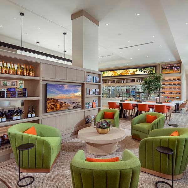 Interior view of Cafe & Market at Promenade Apartment Homes in Irvine, CA.
