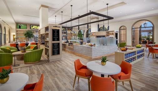 Interior view of Cafe & Market at Promenade Apartment Homes in Irvine, CA.