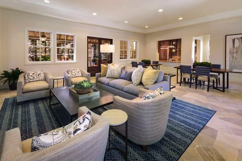 Interior view of clubhouse at Quail Hill Apartment Homes in Irvine, CA.