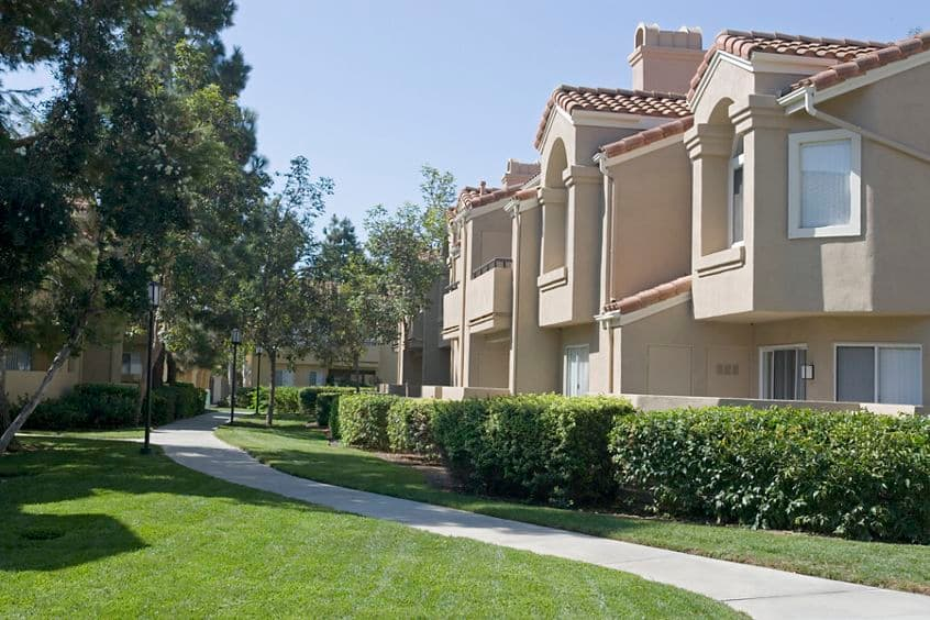 Exterior view of San Marco Villa Apartment Homes in Irvine, CA.