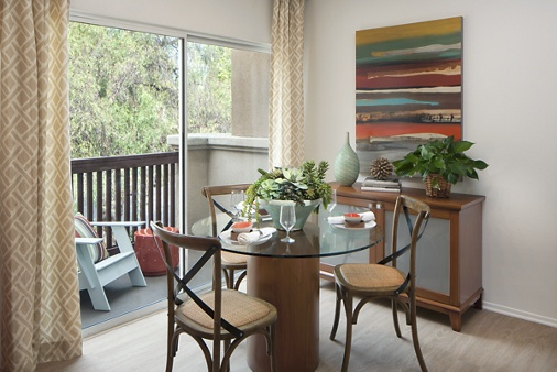 Interior view of San Paulo Apartment Homes in Irvine, CA.