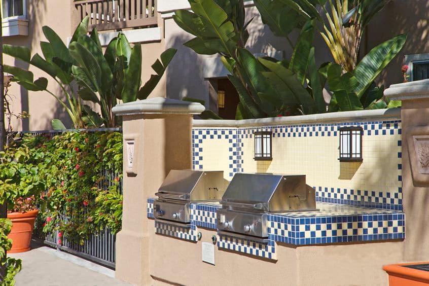 Exterior view of BBQ's at Santa Clara Apartment Homes in Irvine, CA.