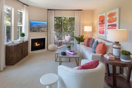 Interior view of living room at Santa Clara Apartment Homes in Irvine, CA.