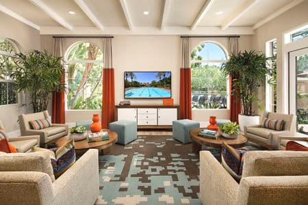 Interior view of Clubhouse at Shadow Oaks Apartment Homes in Irvine, CA.