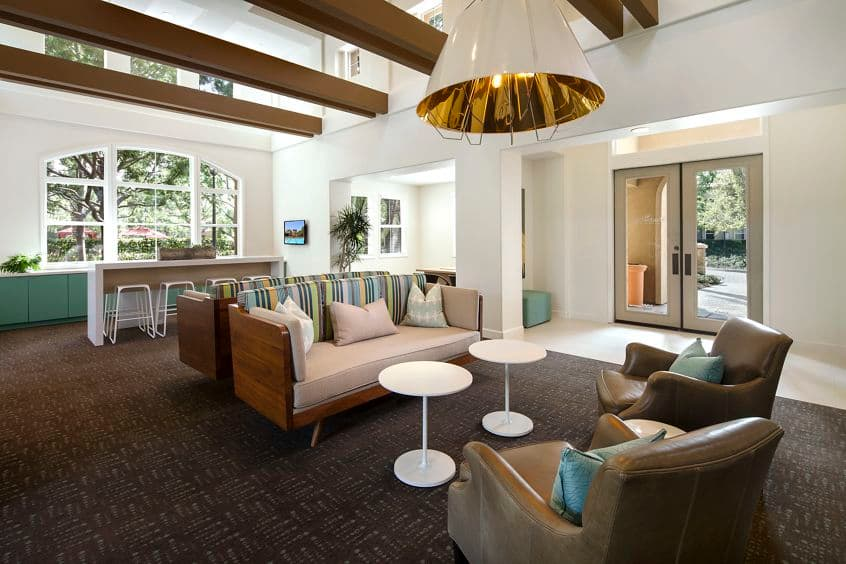 Interior view of Leasing Center at Shadow Oaks Apartment Homes in Irvine, CA.