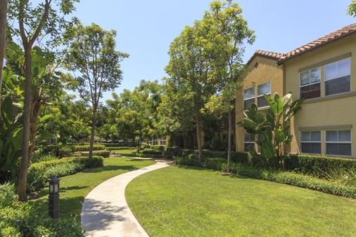 Exterior view of Solana Apartment Homes in Irvine, CA.