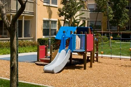 Exterior view of playground at Solana Apartment Homes in Irvine, CA.