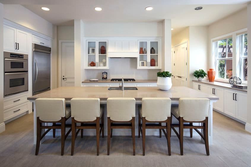Interior view of clubhouse at Somerset Apartment Homes in Irvine, CA.