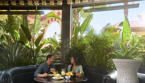 Exterior view of talent at Irvine Spectrum in Irvine, CA.