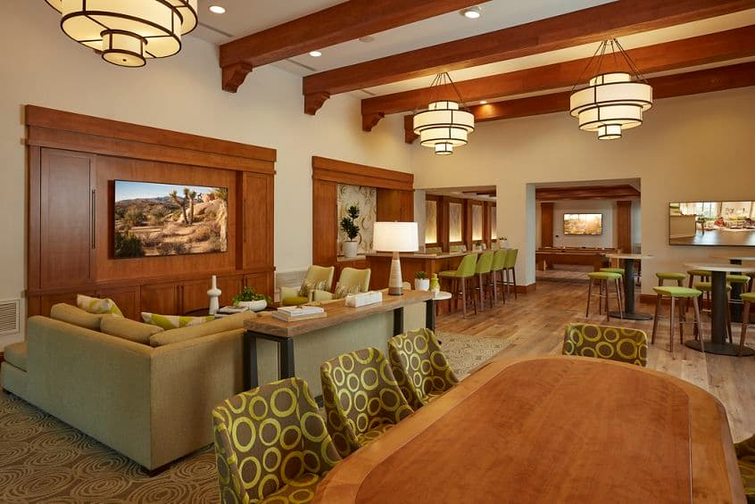Interior view of Clubhouse at The Park at Irvine Spectrum Apartment Homes in Irvine, CA.