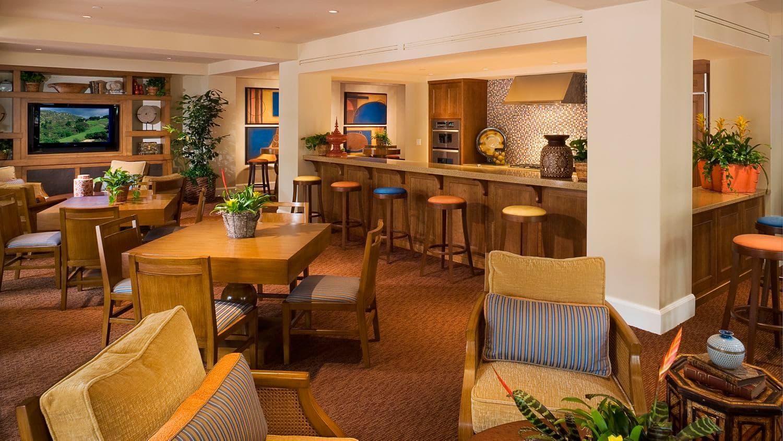 Interior views of clubhouse at The Village Mirador at Irvine Spectrum Apartment Homes in Irvine, CA.