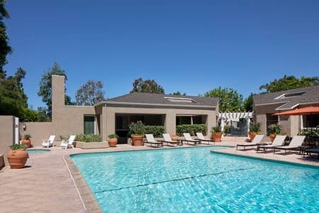 Pool view at Turtle Rock Vista Apartment Homes in Irvine, CA.