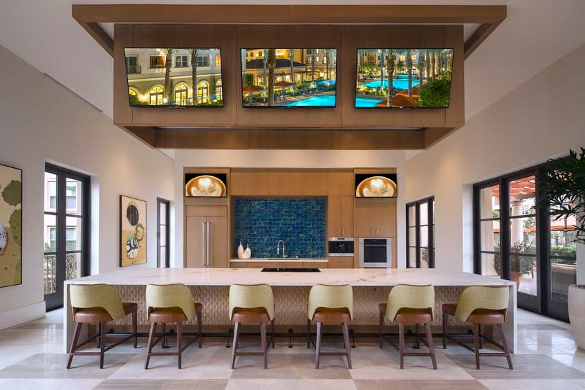 Clubhouse view of Westview at Irvine Spectrum Apartment Homes in Irvine, CA