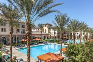 Pool View Of Westview Apartment Homes In Irvine.
